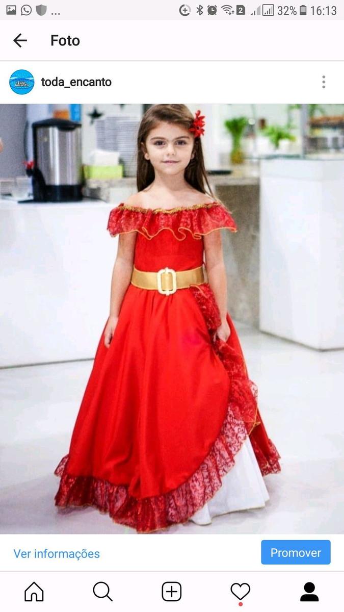 Vestido Fantasia Princesa Elena Avalor