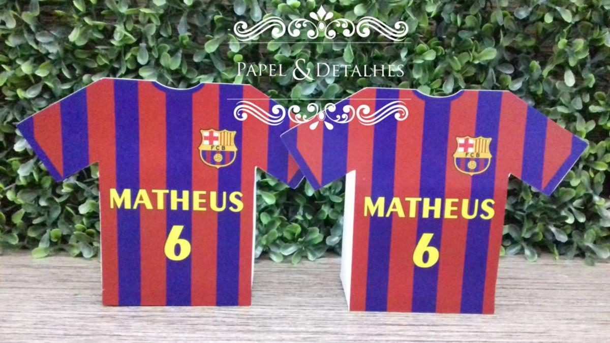 Caixinha Camisa Futebol - Barcelona no Elo7  adae6124f6e0e