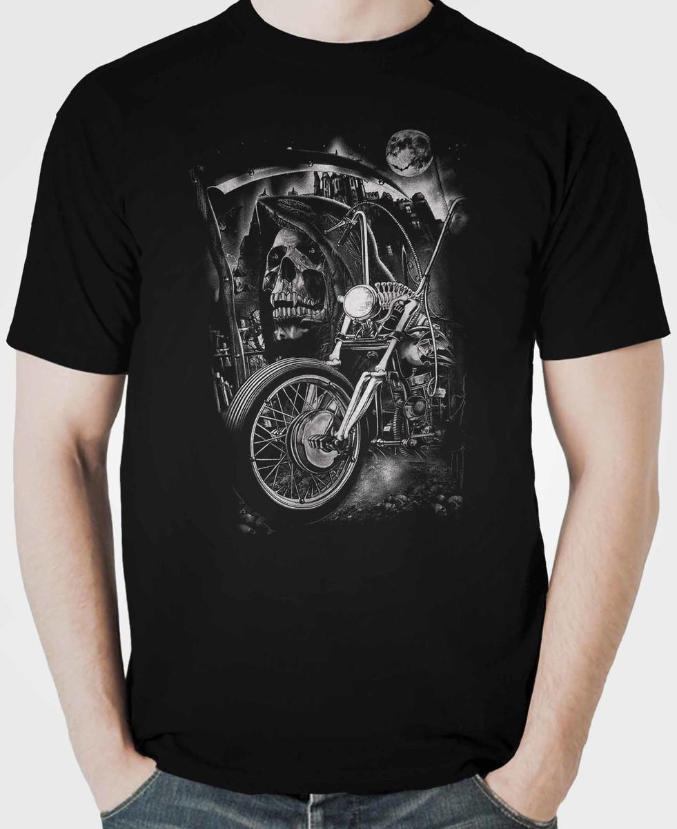 9053d56bf Camiseta Caveira Skull Motociclista promoção no Elo7