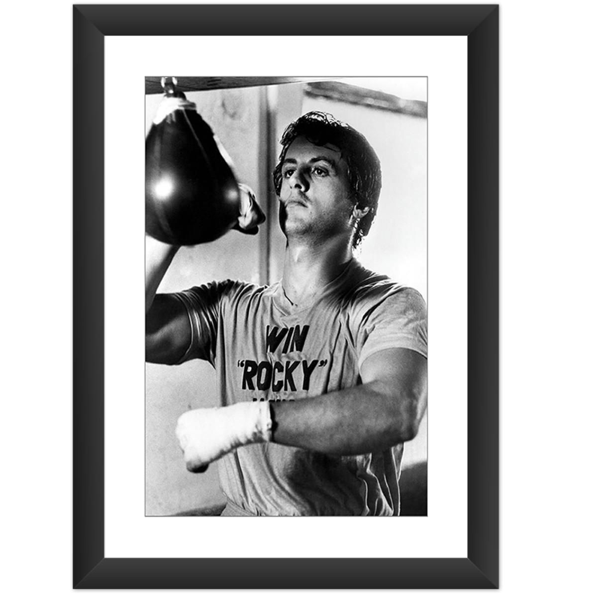 quadro rocky balboa filme stallone treinando retro decorar no elo7