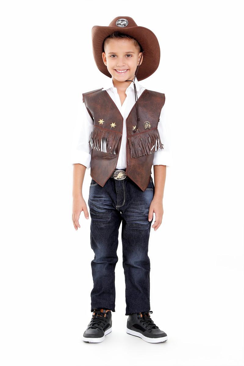 2bb7fbddf5b02 Zoom · Colete Cowboy com Chapeu