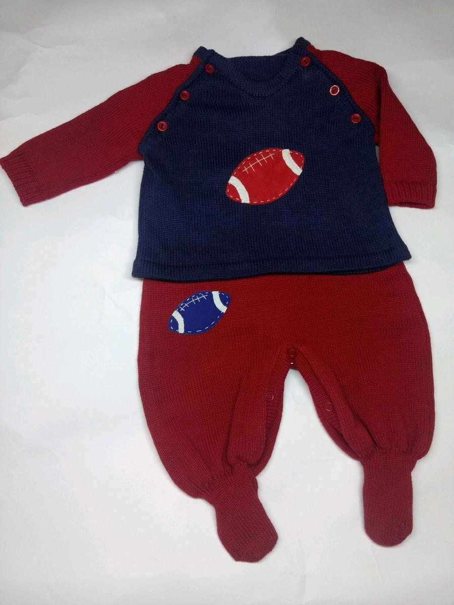 Conjunto tema futebol americano em tricô no Elo7  7b26f996e82de