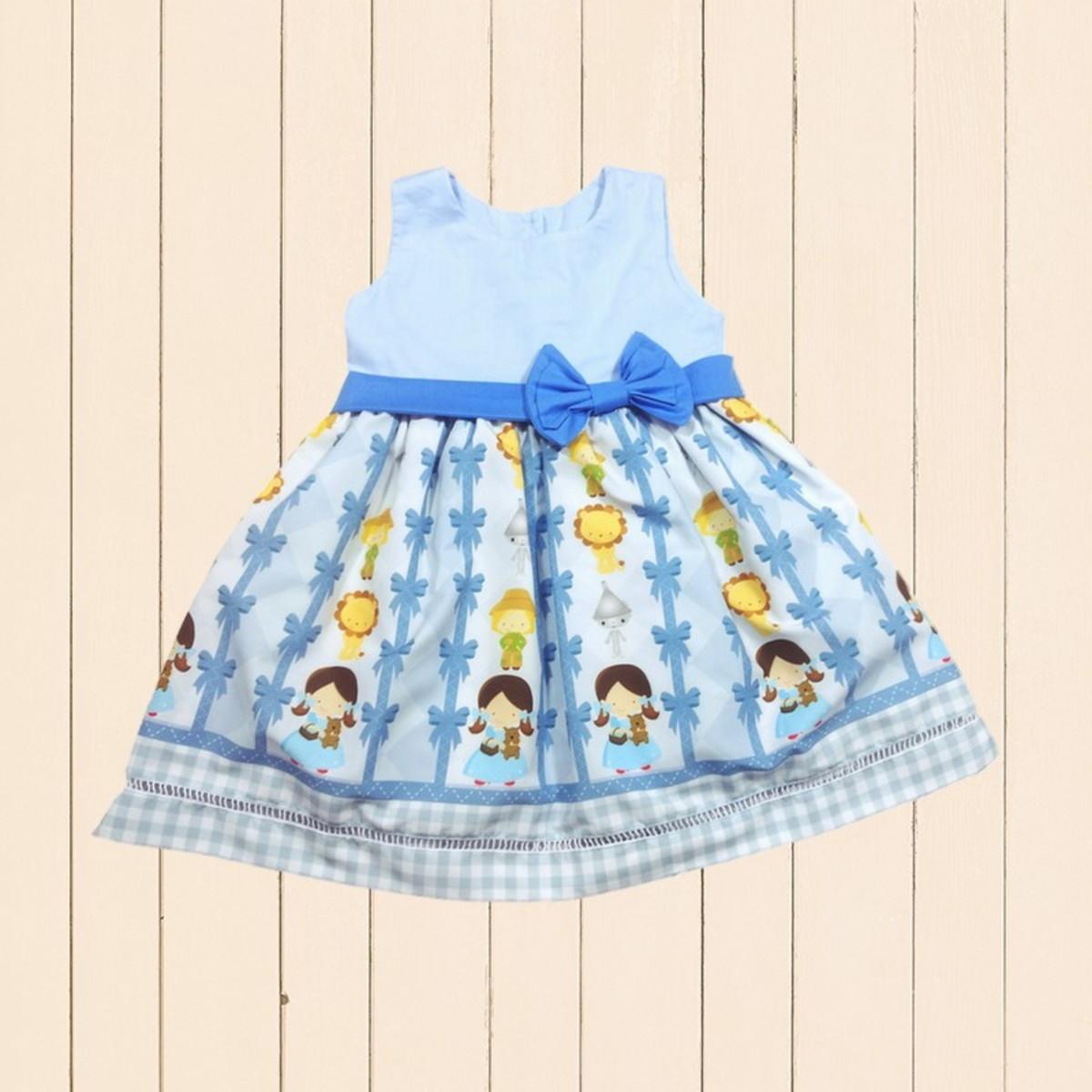 Vestido Magico De Oz Desenho Tematico Roupa Festa Infantil No Elo7
