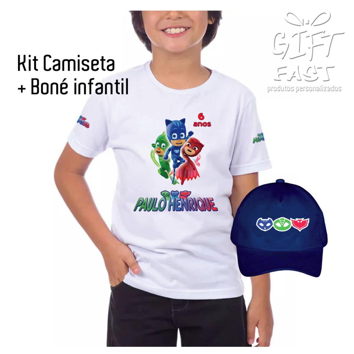 Kit Camiseta e boné PJ Masks no Elo7  d43ba0c978c