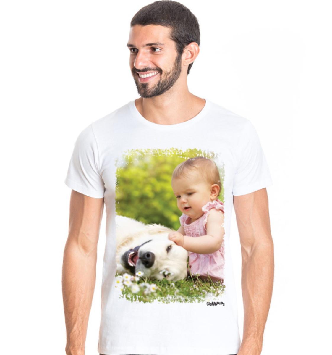 94bc7afa2 Camiseta Personalizada com Foto do seu Cachorro no Elo7