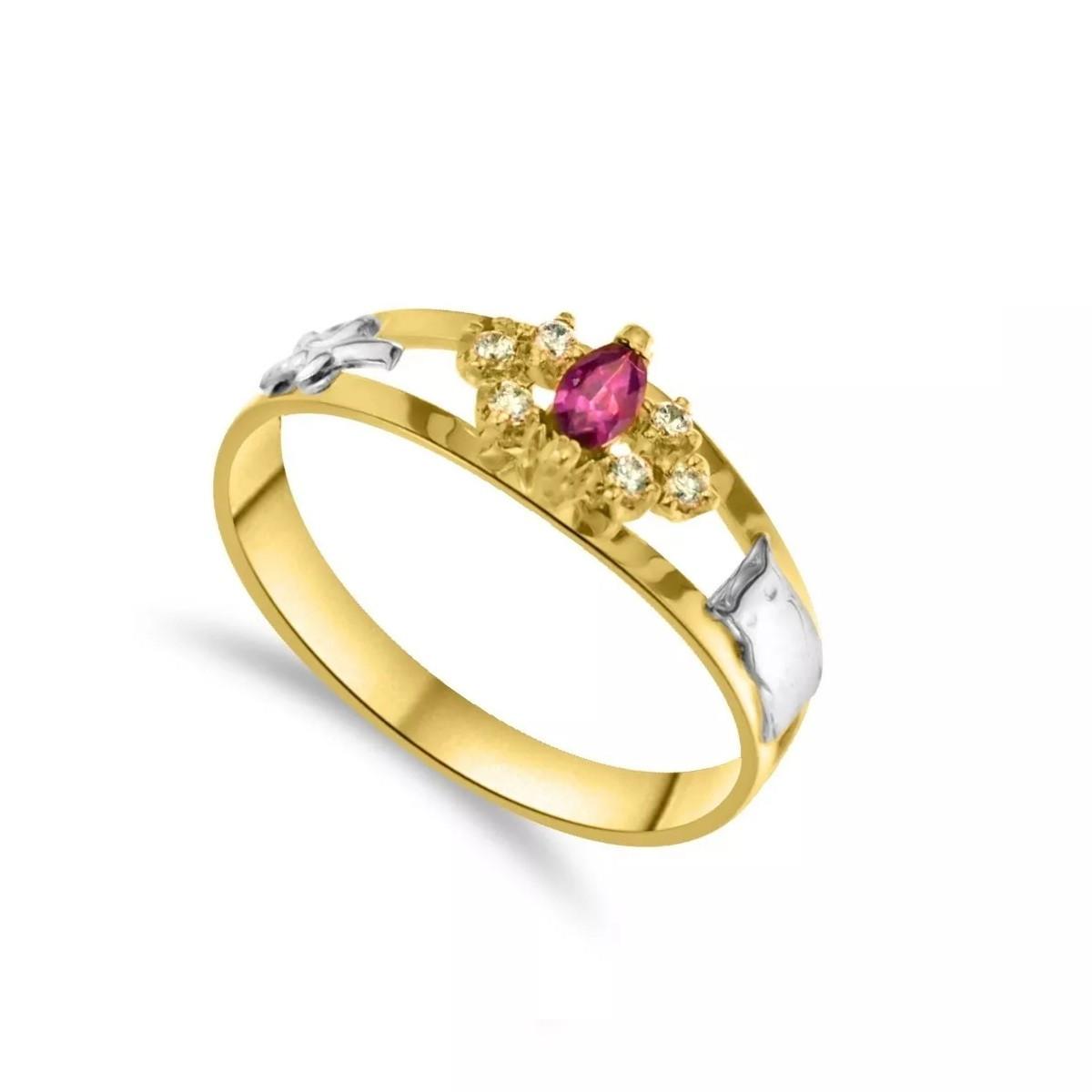 Anel de Formatura Feminino Ouro 18k Zircônias - Mod 5-22 no Elo7 ... f03e65651e