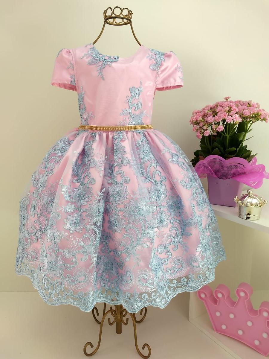 Vestidos de festa azul com rosa