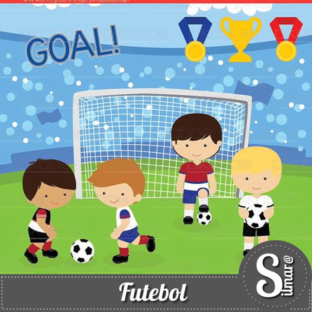 Kit Digital Futebol 8 - Scrap no Elo7  1e63abff121d4