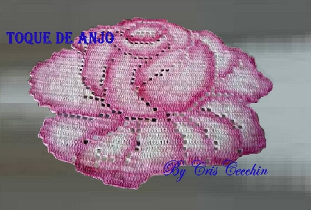 Tapete croch formato rosa no elo7 toque de anjo ateli for Rosa tapete