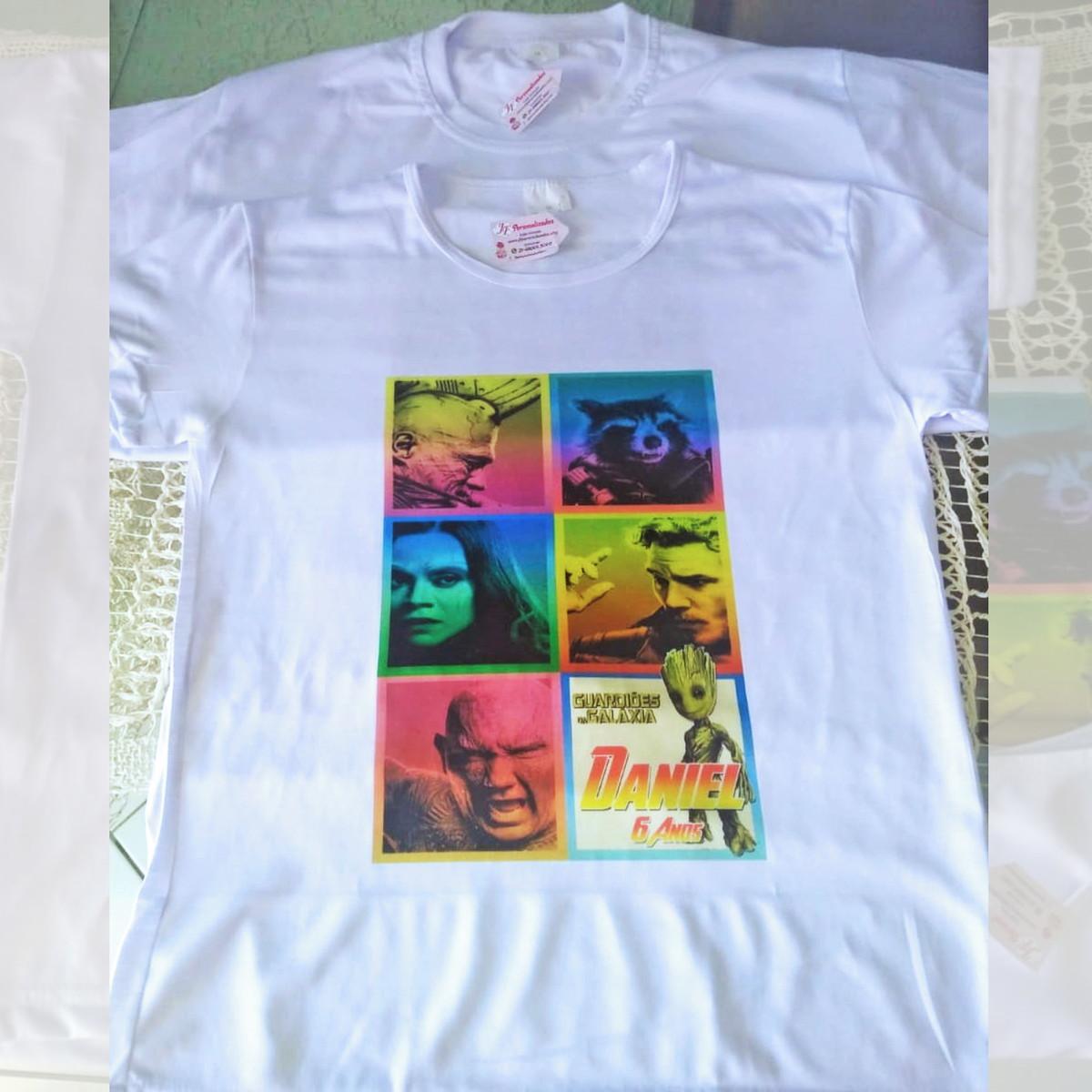 c81788a1dc Camiseta Adulto Infantil Personalizada Guardiões da Galáxia no Elo7 ...