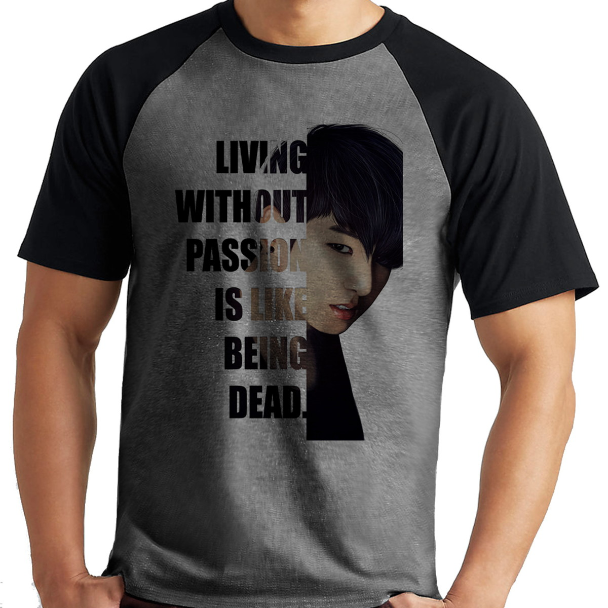 dc1fe8011 Camiseta BTS Jungkook Frases Raglan Mescla Manga Curta no Elo7 ...