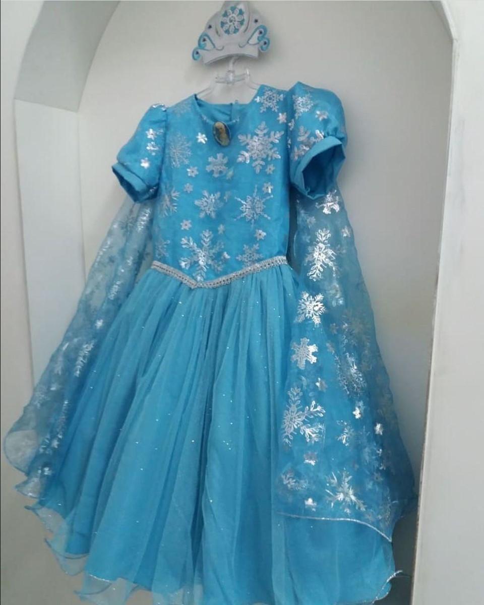 Fantasia Vestido Elsa Frozen