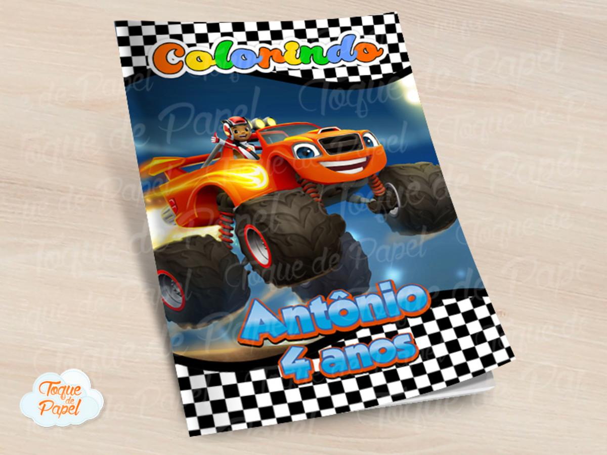 Revista Colorir Blaze And The Monster Machine No Elo7 Toque De