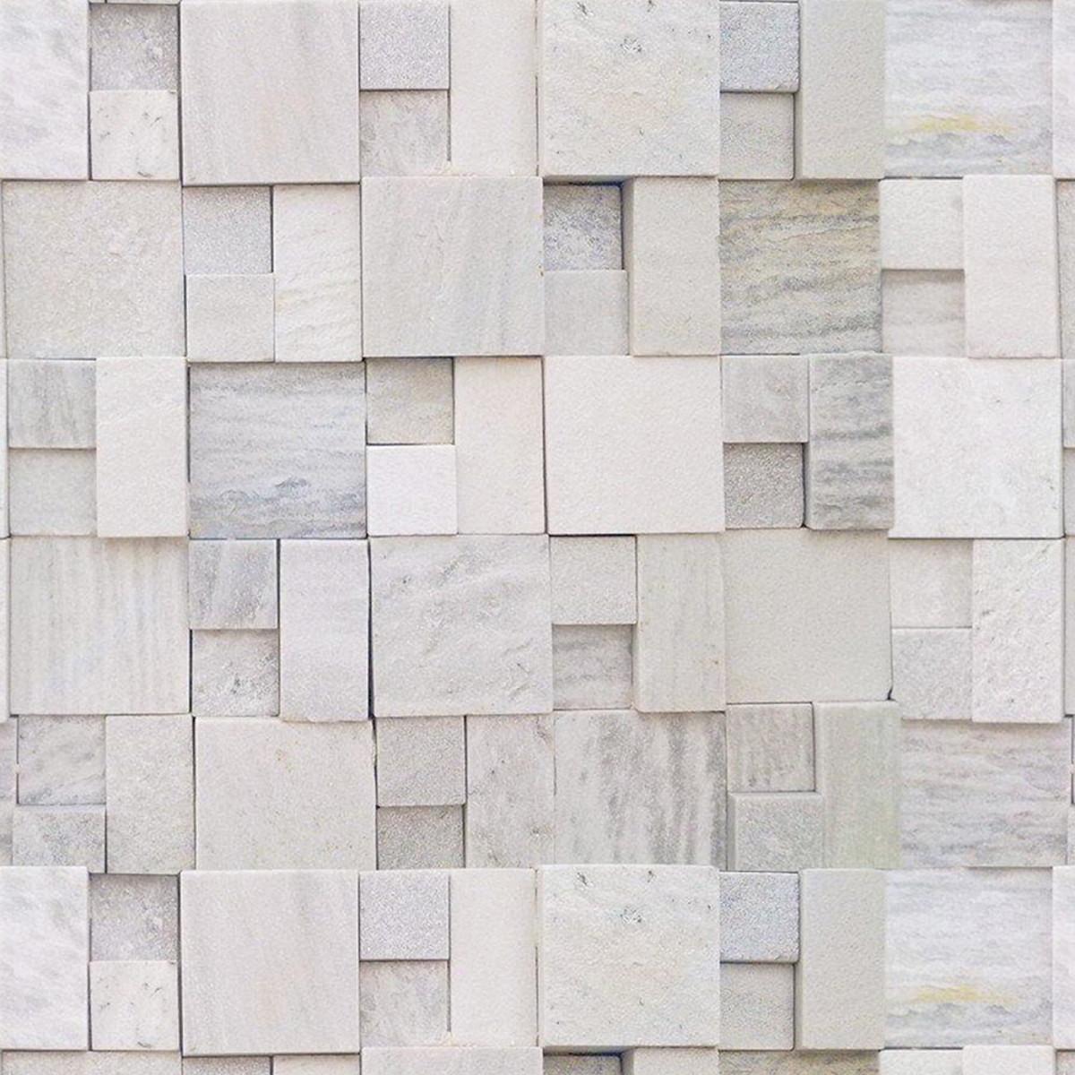 Papel de parede autocolante mosaico pedras irregulares 3m for Mosaico adesivo 3d