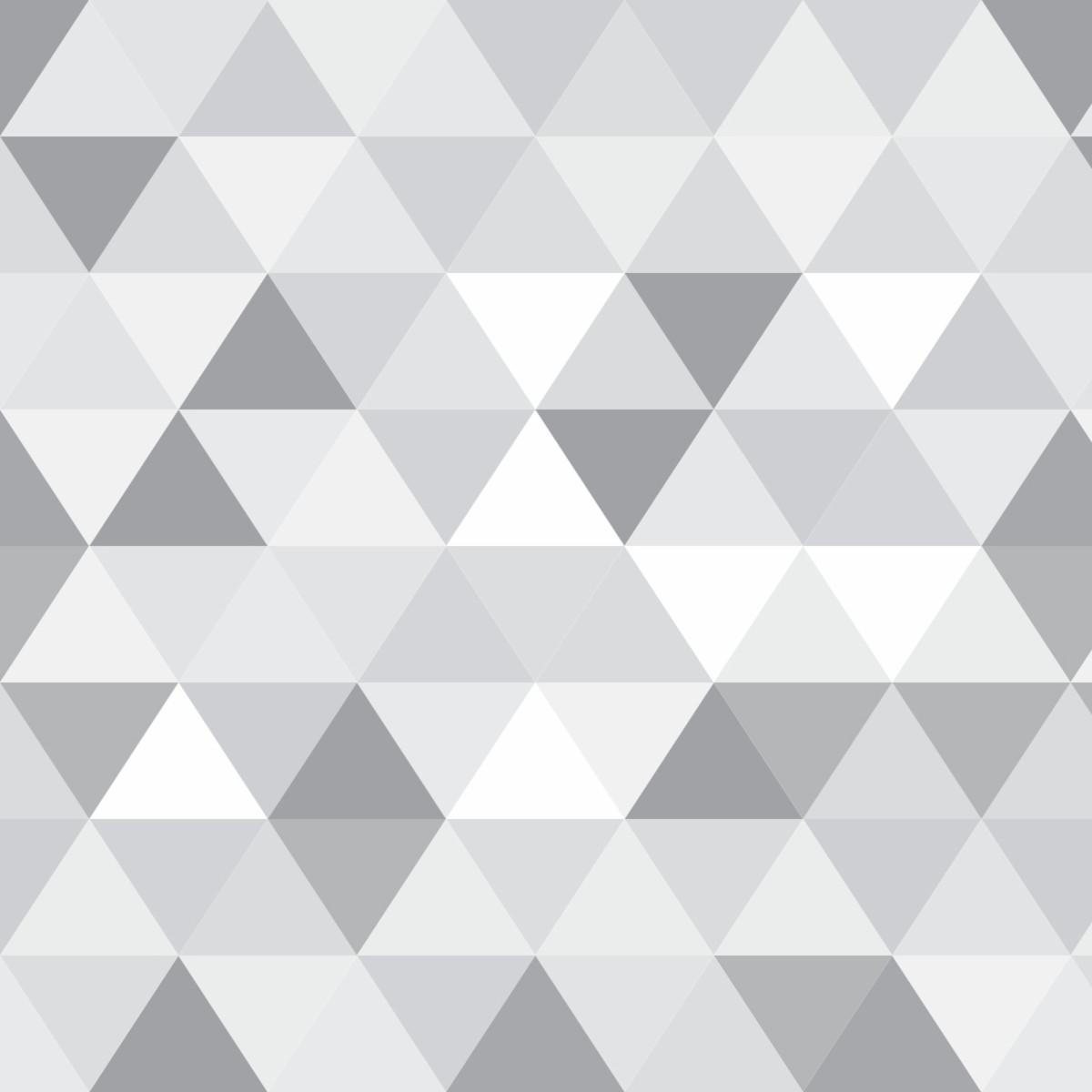 c8fdf63cd Papel Parede Geométrico Triângulo Tons Cinza Sala 3m PPG209 no Elo7 ...