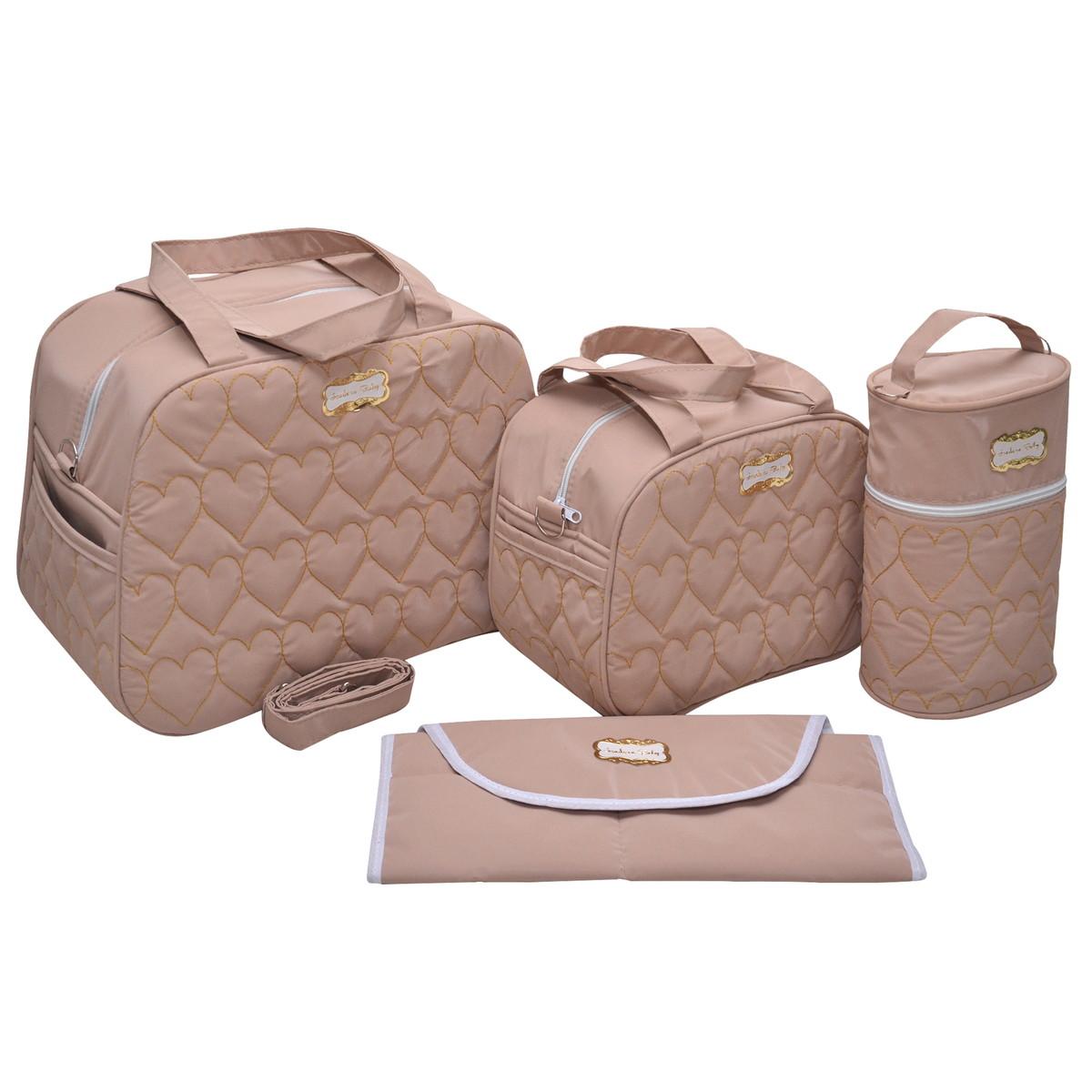 5a40c8ea5a Kit Bolsa Maternidade Luxo para menina 4 peças no Elo7