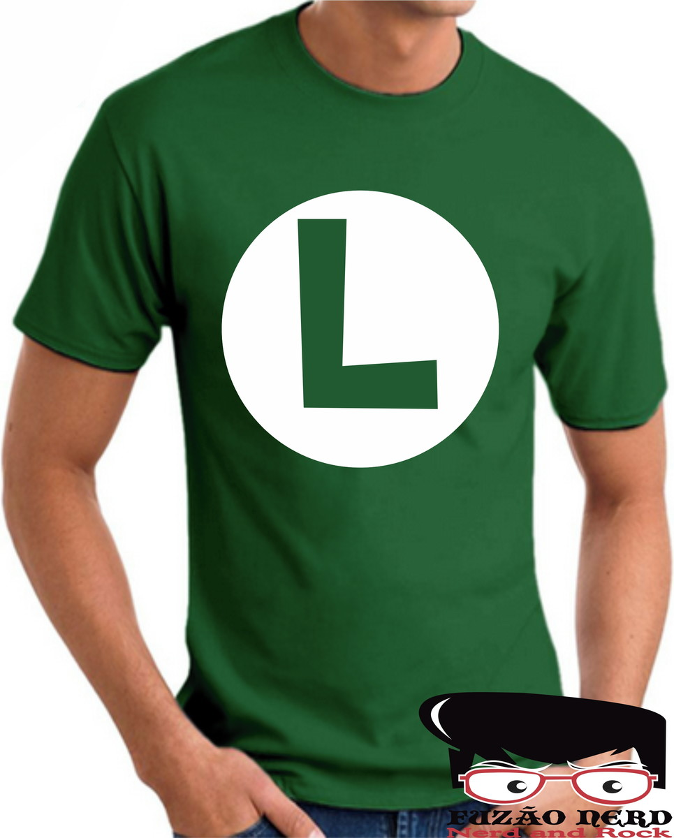 7241516cc Camiseta Luigi Super Mário World Camiseta de Game Fuzão Nerd no Elo7 ...