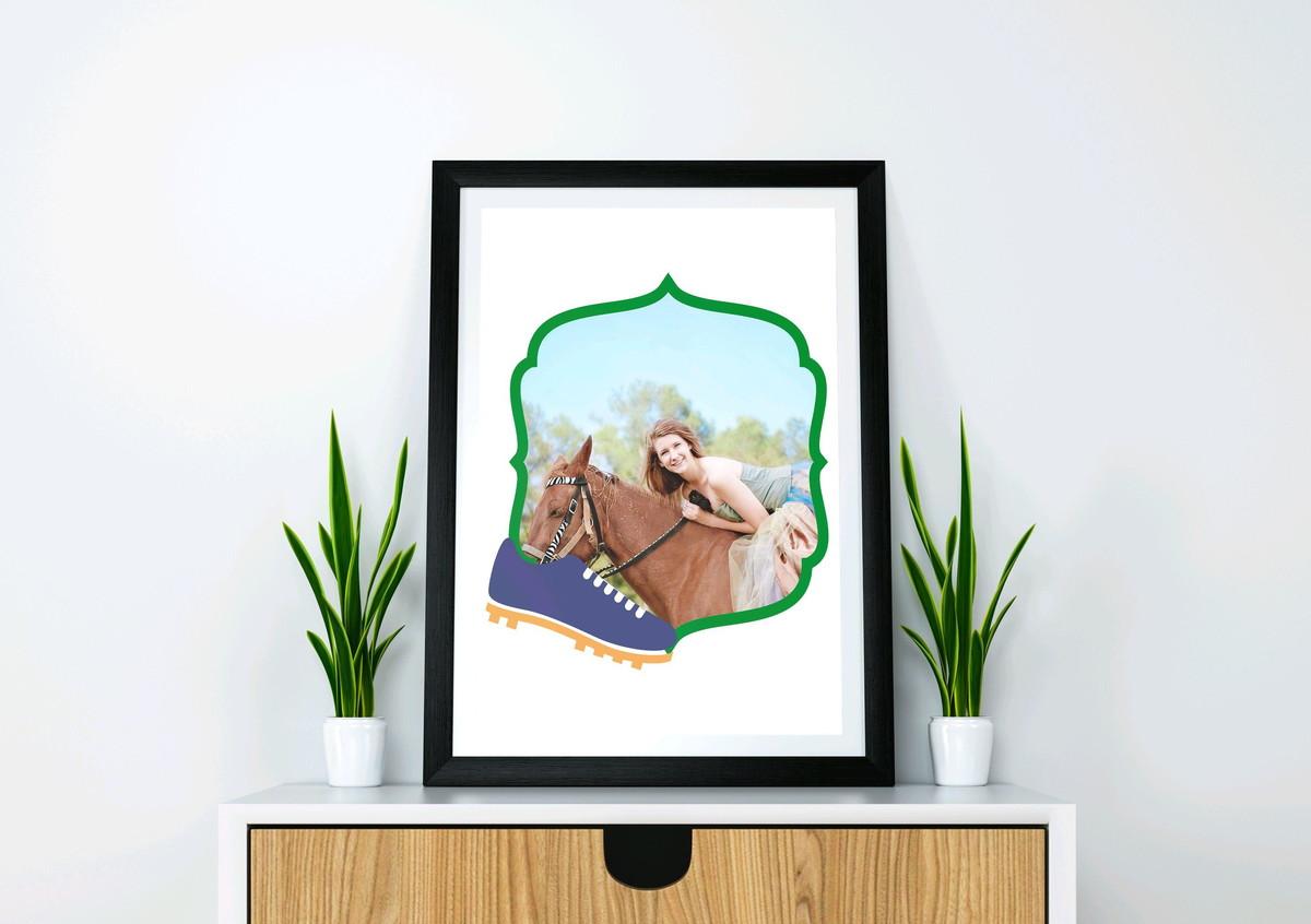 Arte digital Pôster quadro com foto- Brasil chuteira no Elo7  2a0d27c389148