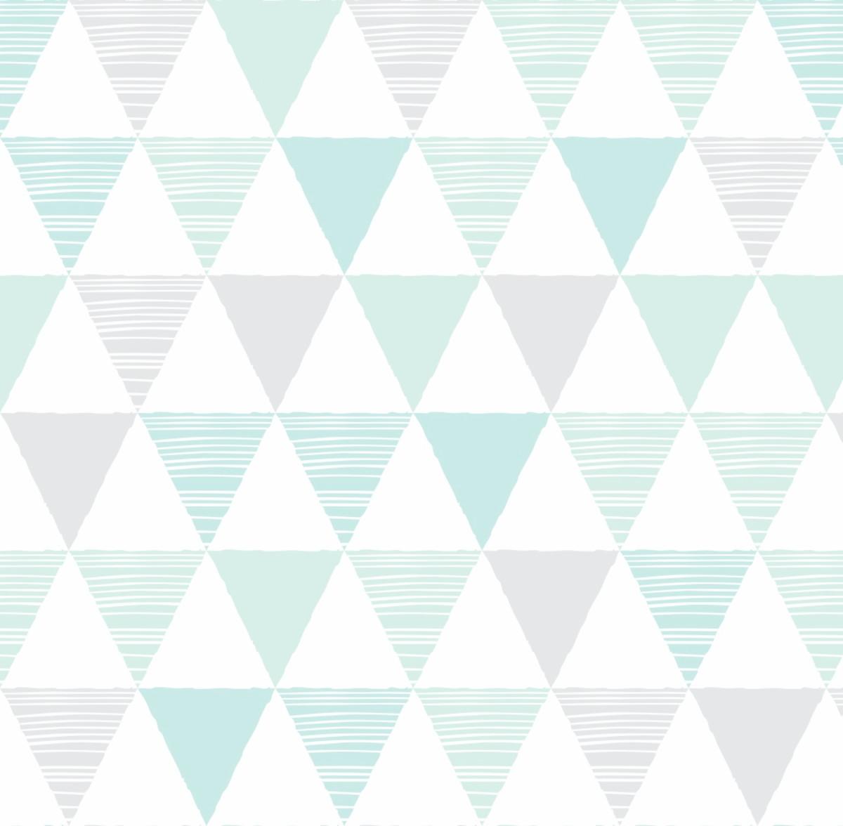 abc7f3541 Papel Parede Geométrico Triângulo Tom cinza verde 3m PPG237 no Elo7 ...