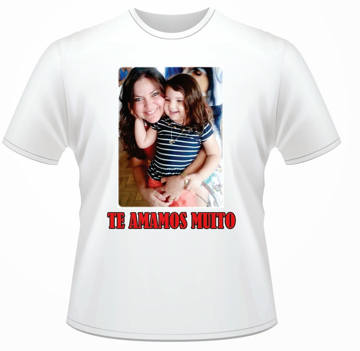 Camiseta Dia Dos Pais Personalizado Com Sua Foto E Frase No Elo7