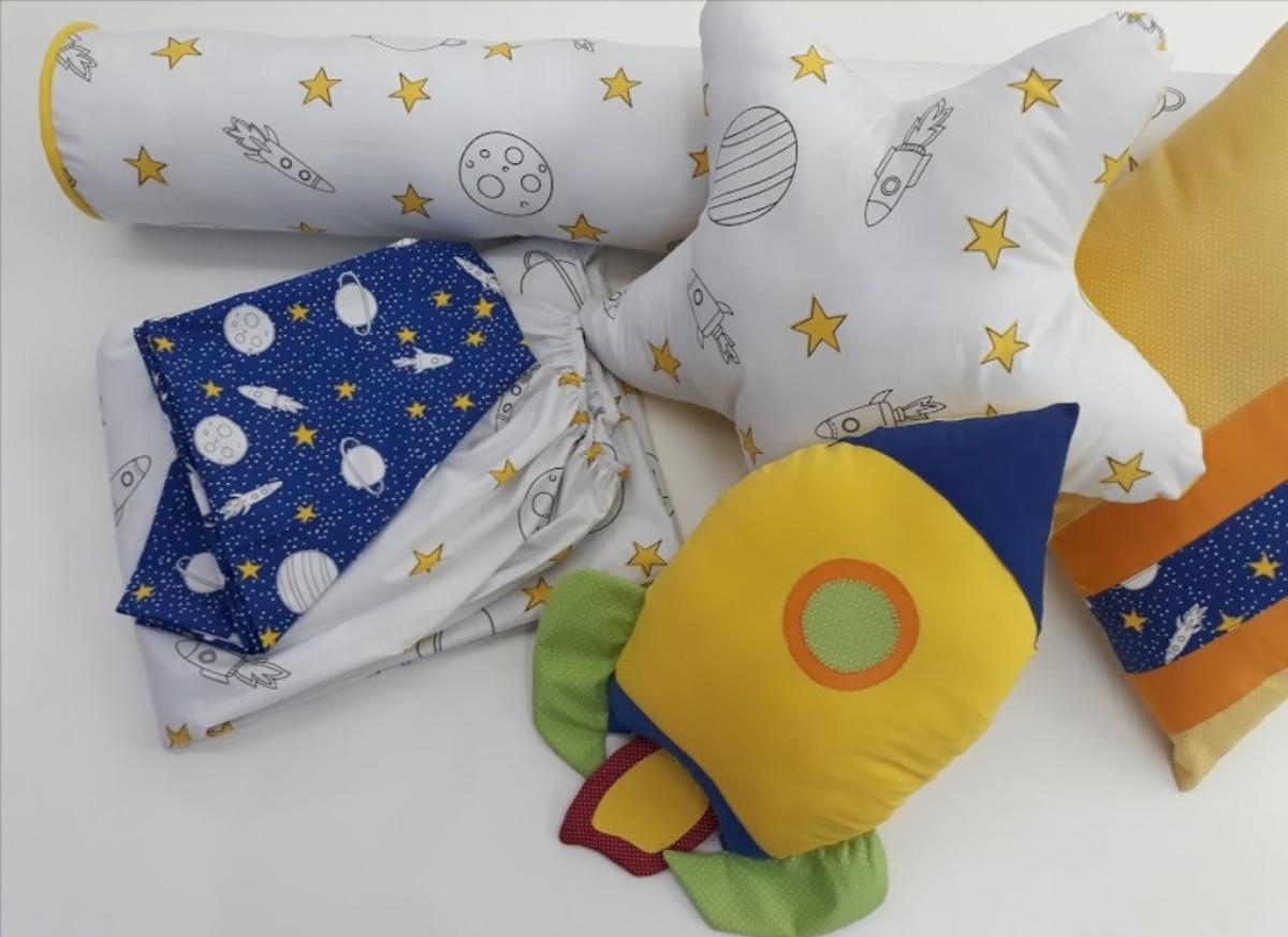 9146954c0a Kit cama infantil astronauta no Elo7