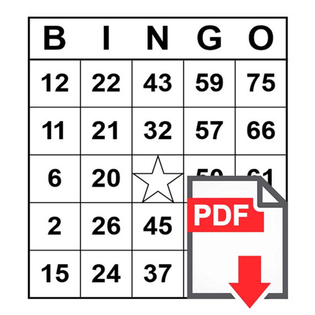 cartela de bingo gratis