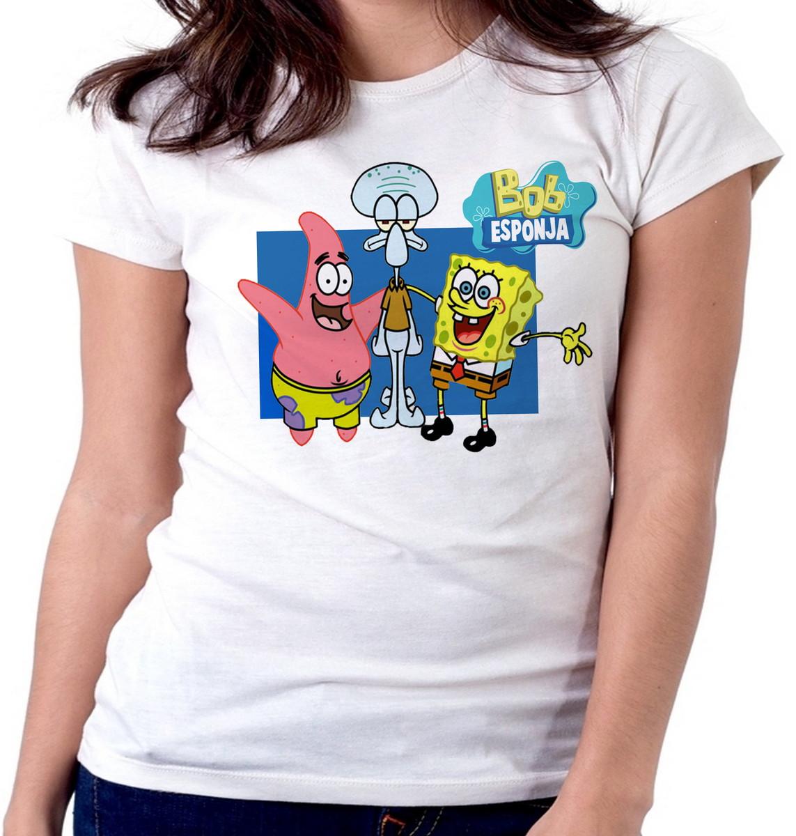 d417c3ab17843 Blusa feminina baby look camiseta Bob Esponja Patrick Lula no Elo7 ...