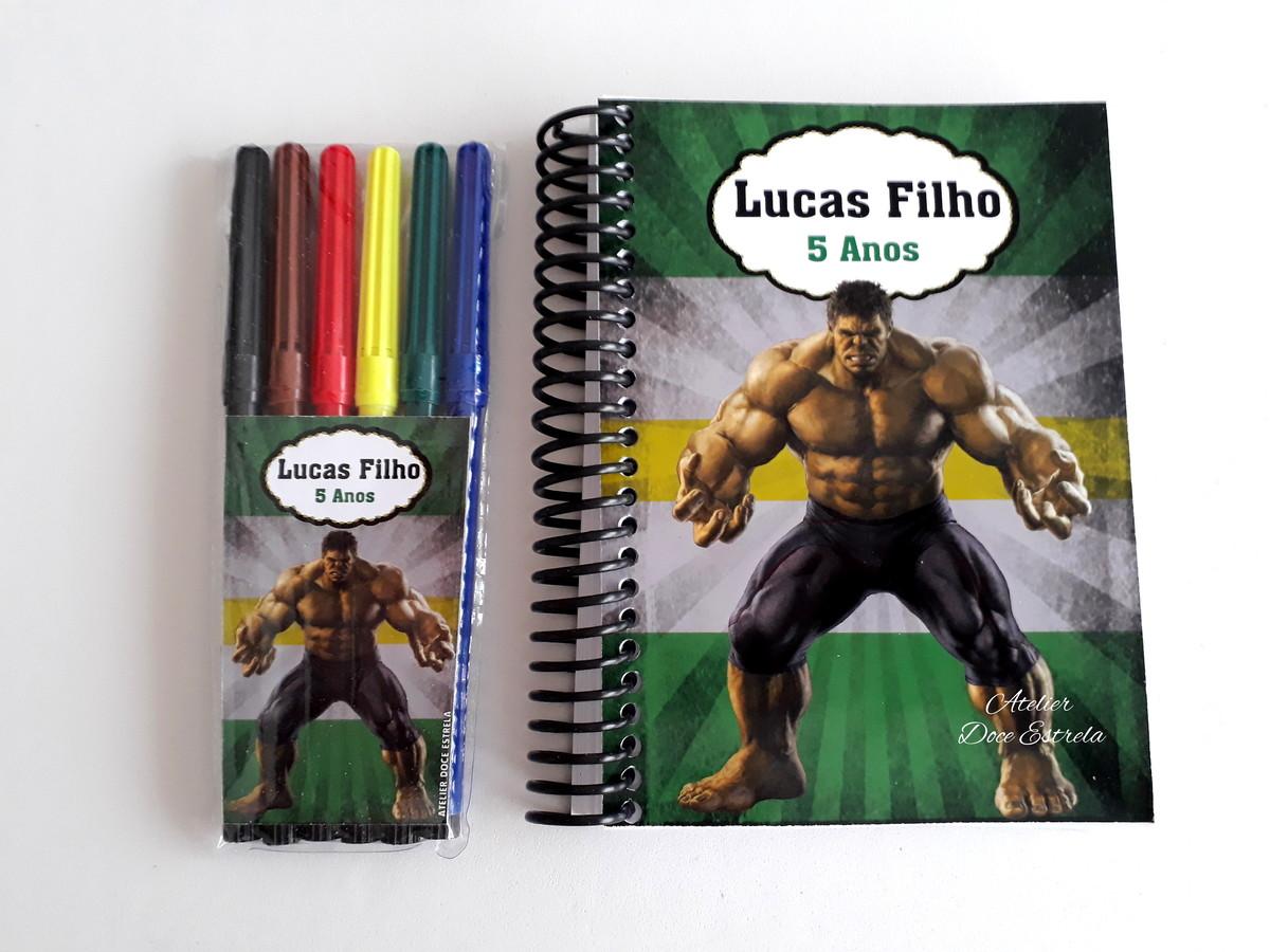 kit de desenho hulk super heróis vingadores liga da justiça no elo7