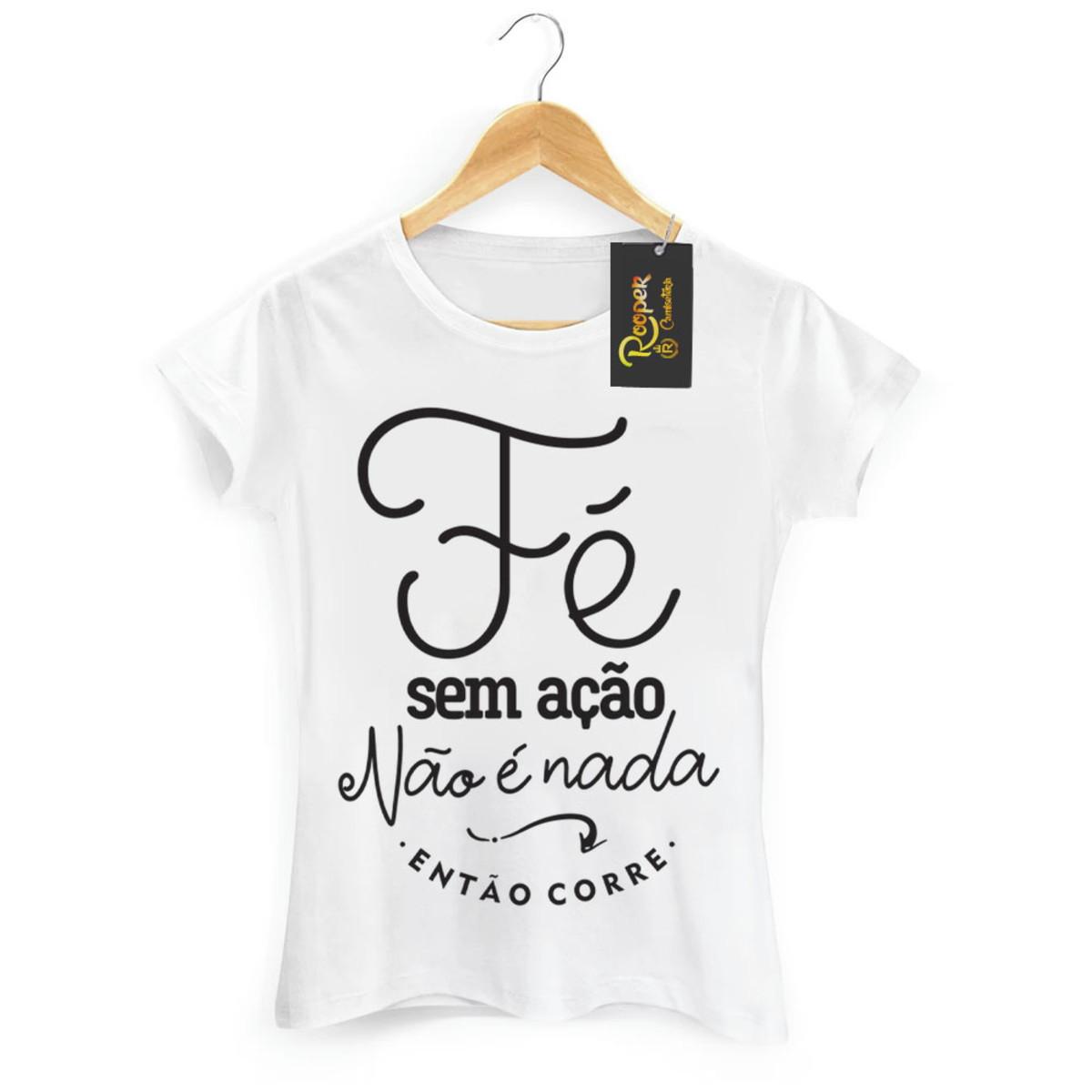 70c4d082b3 Camiseta Evangelica Feminina Fé no Elo7