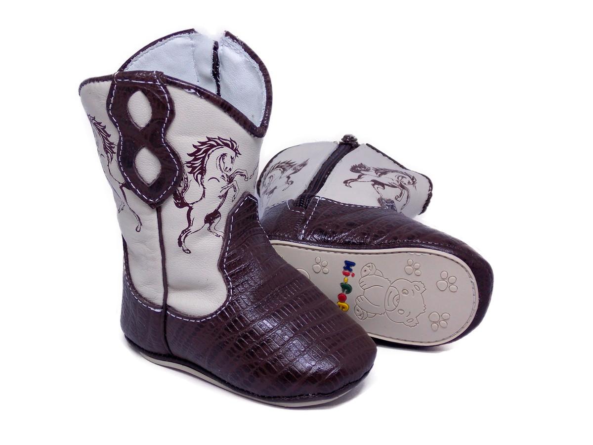 8c7c39dea4ee0e Bota de Bebê Country Texana Menino Menina Rodeio Couro 1867