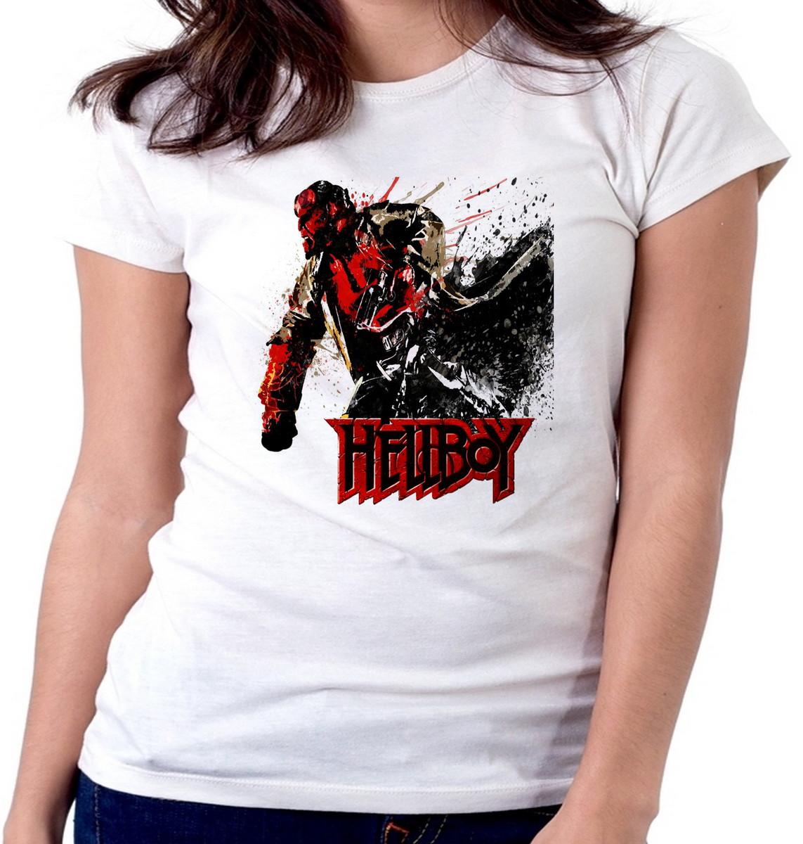 Blusa feminina baby look camiseta Hellboy ataque super heroi no Elo7 ... 0364448388bd