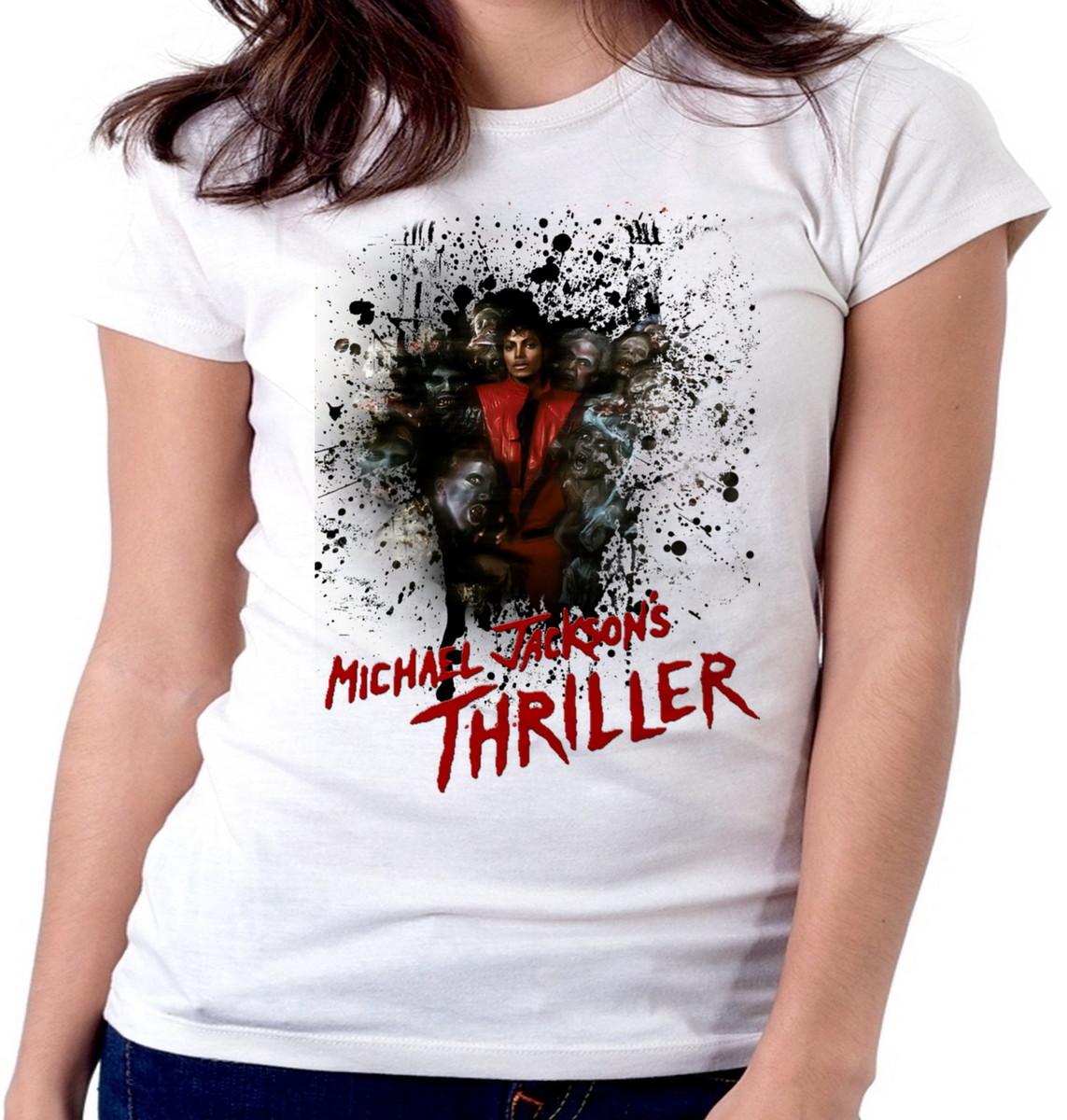 Blusa feminina baby look camiseta Michael Jackson thriller no Elo7 ... e8102d3224bfa