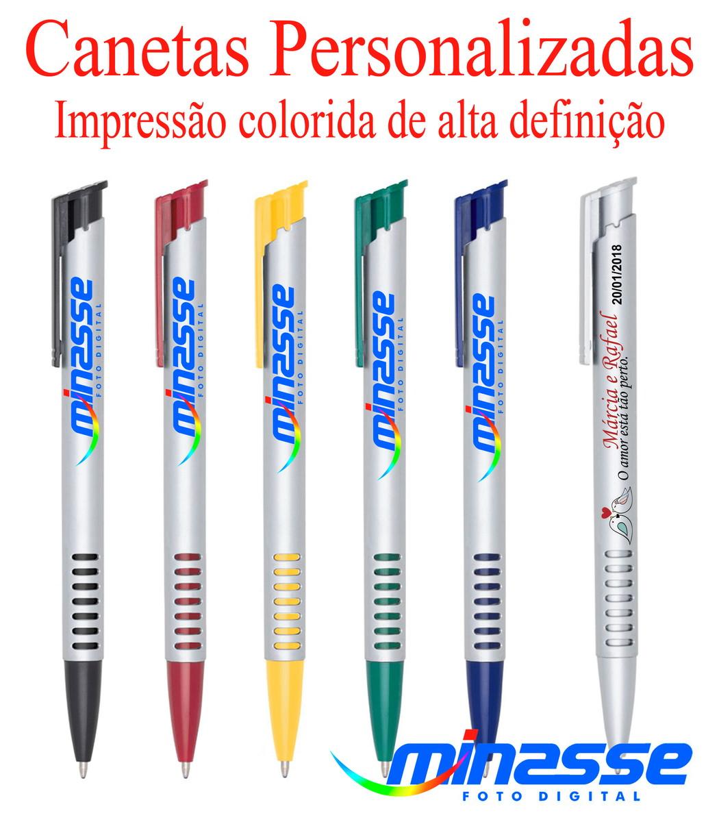 348f16d42 100 Canetas Mod 3017 - Brindes Personalizados - imp.colorida no Elo7 ...