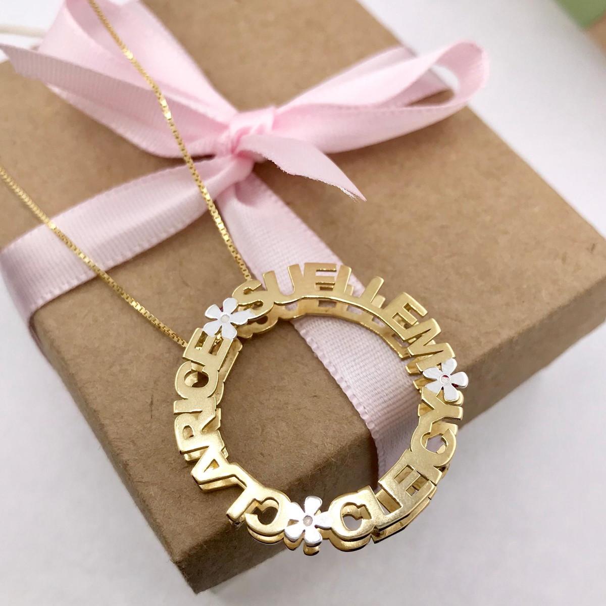 bd1c4176587d2 Colar em Prata Mandala em Prata 925 Banho de ouro 18k no Elo7 ...