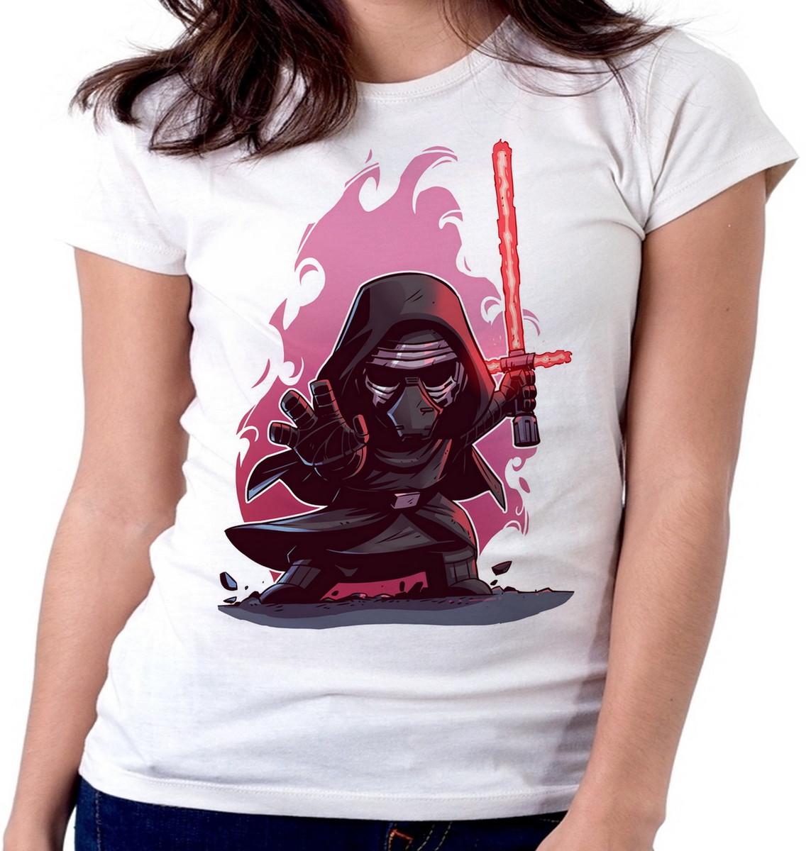 6ff2930fb Blusa feminina baby look camiseta Ben Solo vilão Star Wars no Elo7 ...