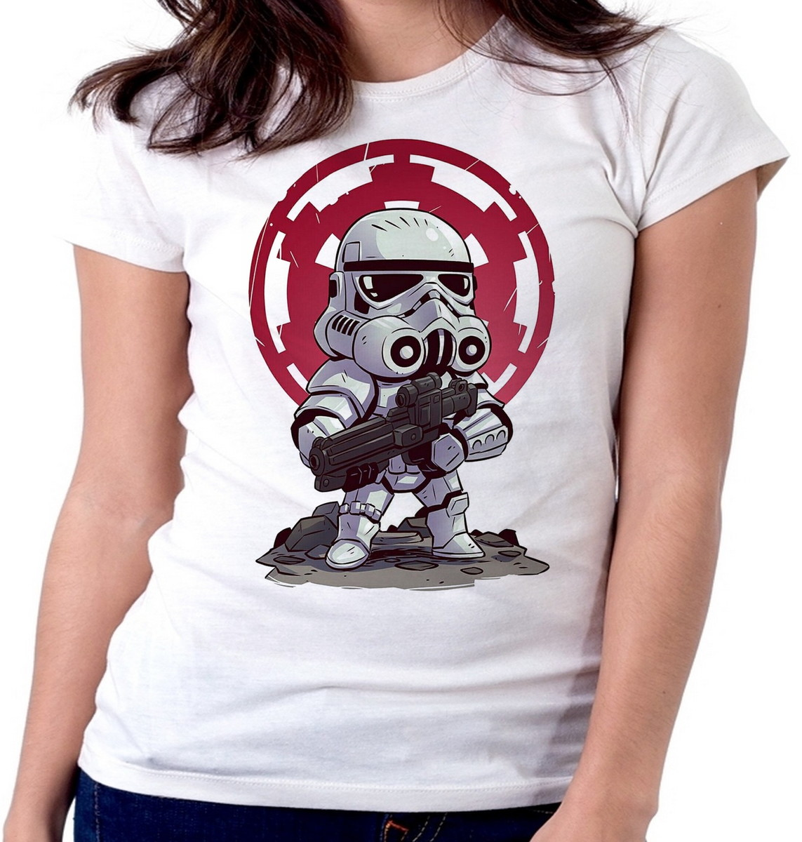 91e847346 Blusa feminina baby look camiseta Storm trooper star wars no Elo7 ...