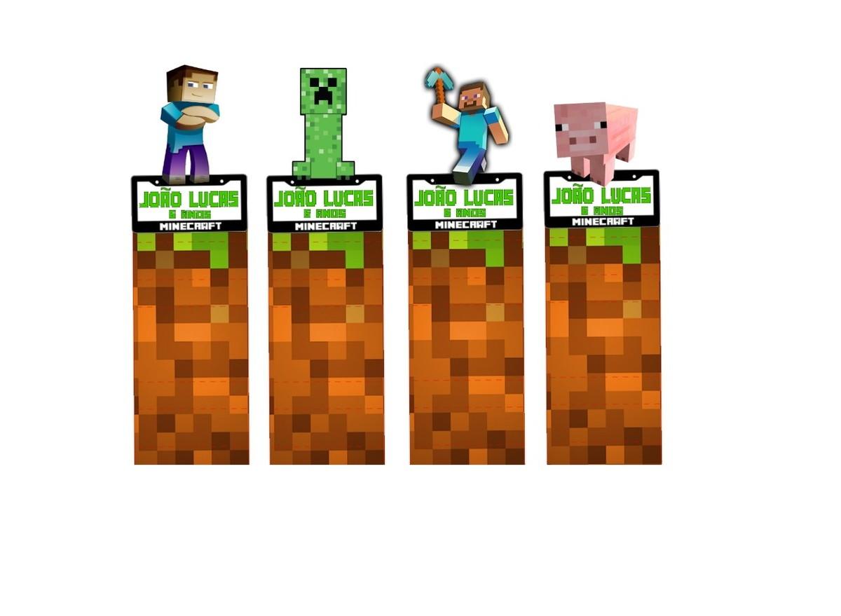 Porta Bis duplo 3d Minecraft