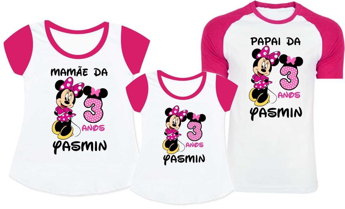 e04b46f83e KIT 3 Camisetas Minnie no Elo7