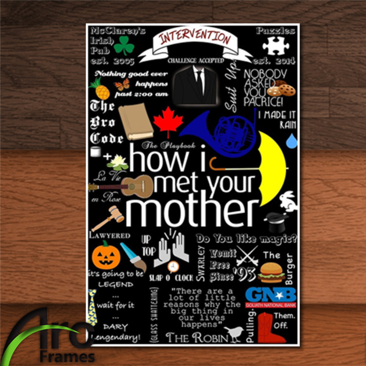 Placa Decorativa Mdf How I Met Your Mother Série Frases No Elo7