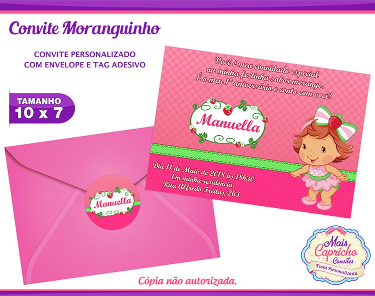 Convite Moranguinho no Elo7  605b4d5add1