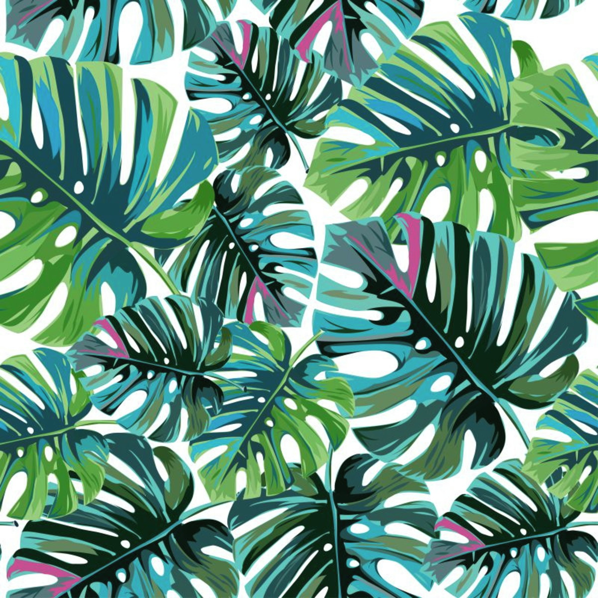 Papel De Parede Adesivo Folhas De Palmeira Tropical No