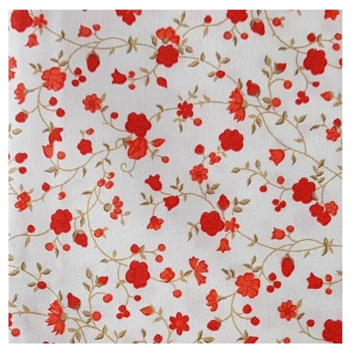 4afcc29a59 Tecido Patchwork Floral Rosas Vermelha Fundo Branco 3944 no Elo7 ...