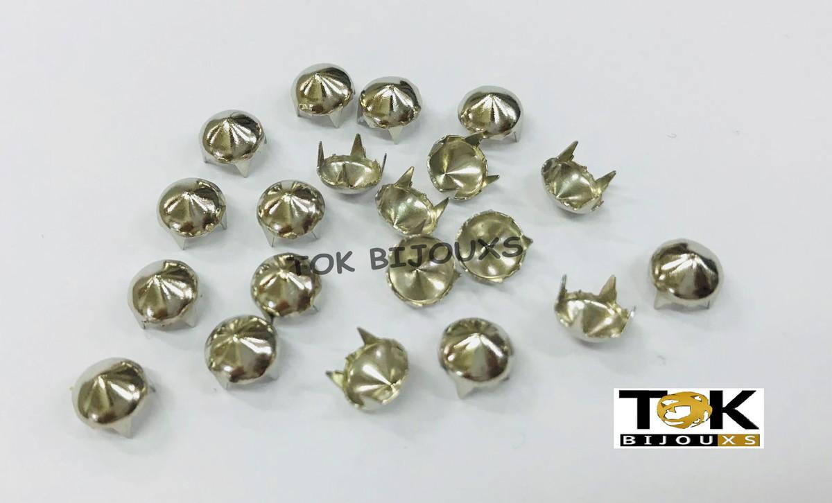 Spike Redondo - 7mm - Níquel - 1000 un no Elo7   TOK BIJOUXS (CAFB14) 0efc7a7dff