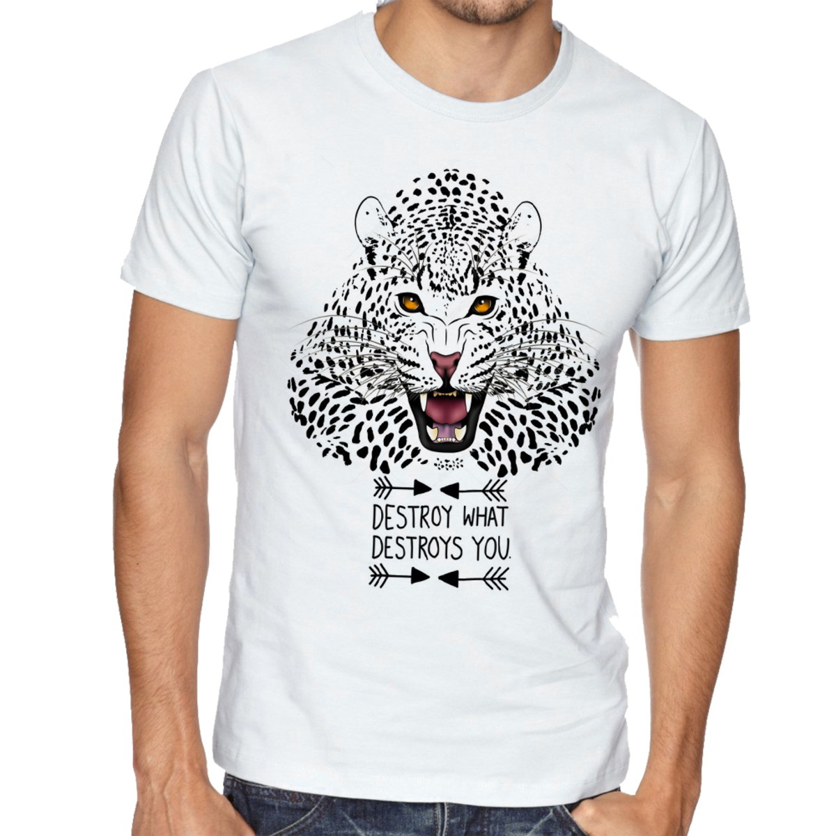 Camiseta Infantil Blusa Crianca Onca Pintada Animal Selva No Elo7