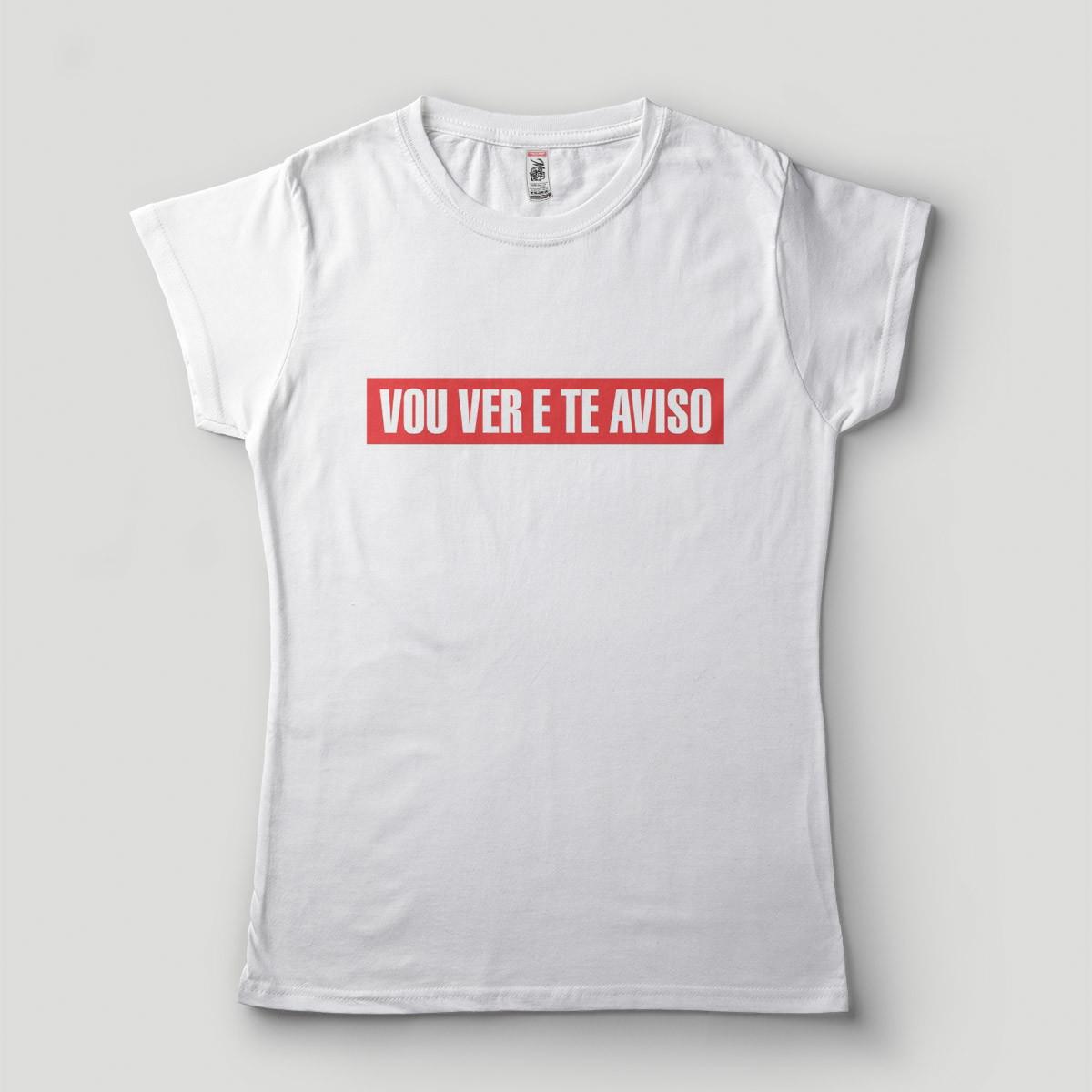 63f4089c5 Blusa Feminina Vou ver e te aviso Camiseta divertida Humor no Elo7 ...