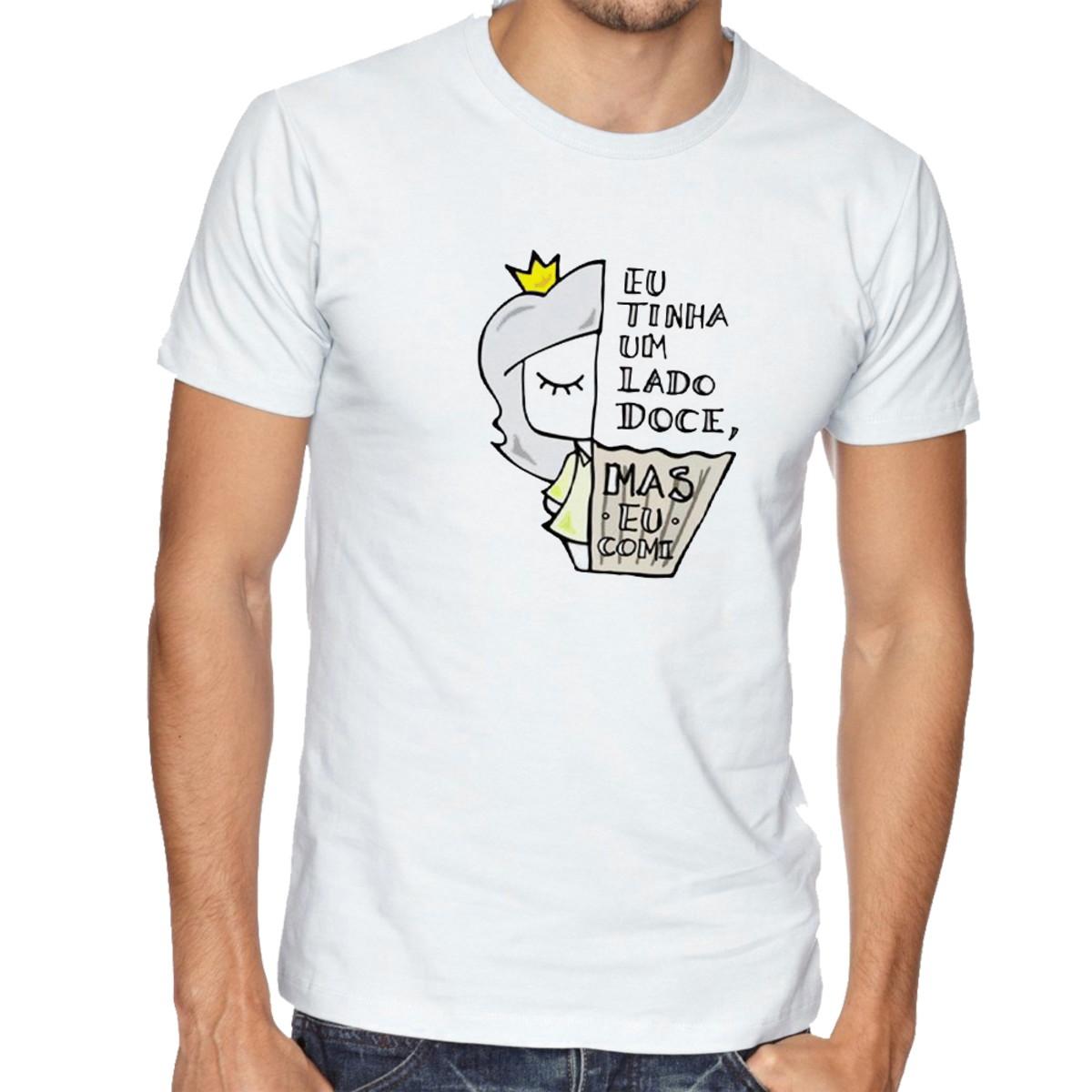 Camiseta Infantil Blusa Criança Lado doce comi Cup Cake no Elo7 ... e95118635b4
