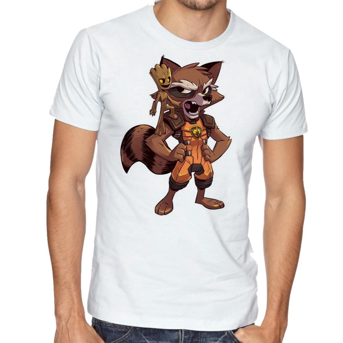44bfbdc1d6 Camiseta Infantil Blusa Criança GROOT ROCKET Guardiões Galax no Elo7 ...
