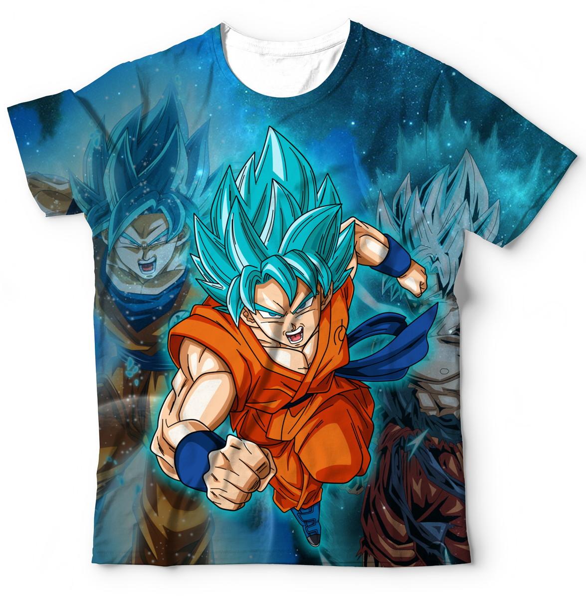 0fc4c613f Zoom · Camiseta camisa Goku Blue Super Dragon Ball Heroes