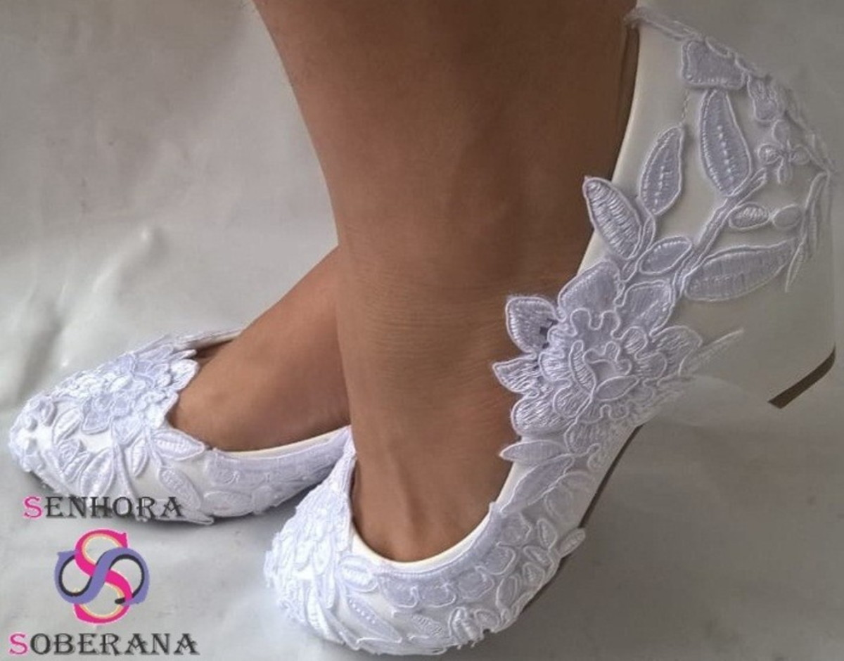 f957eb23eed Sapato Branco Rendado Cinderela   DIVA (15 ANOS) (NOIVAS) no Elo7 ...
