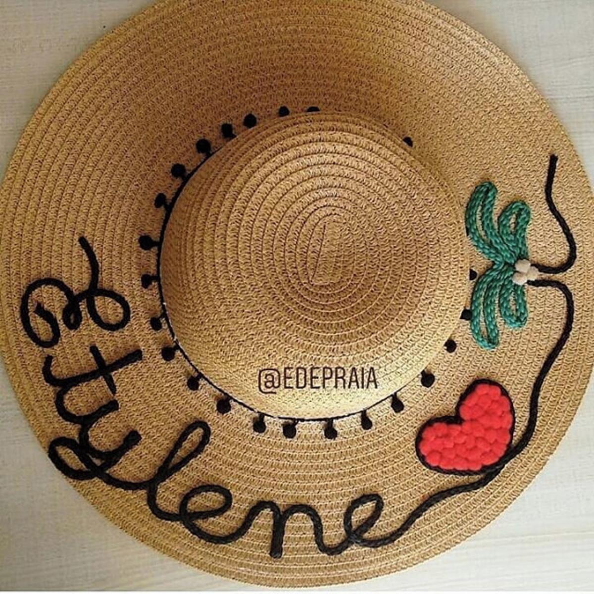 Chapéu de praia personalizado coqueiro no Elo7  084d662aa54